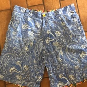 9bab62bc1a Robert Graham Paisley Cotton Shorts 32